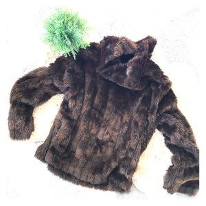 Parkhurst brown faux fur pullover sweater